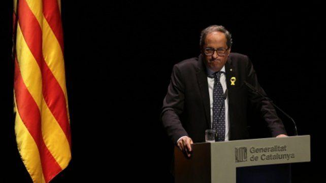 Desafío. Torra propuso a Madrid un refereréndum de autodeterminación.