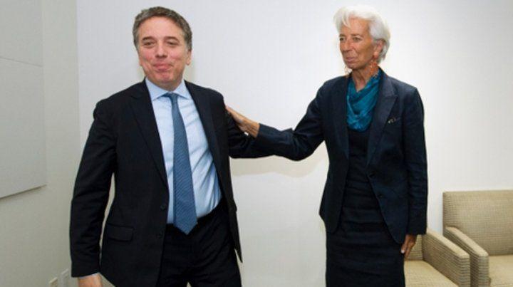 Frío. Dujovne y la directora gerente del FMI