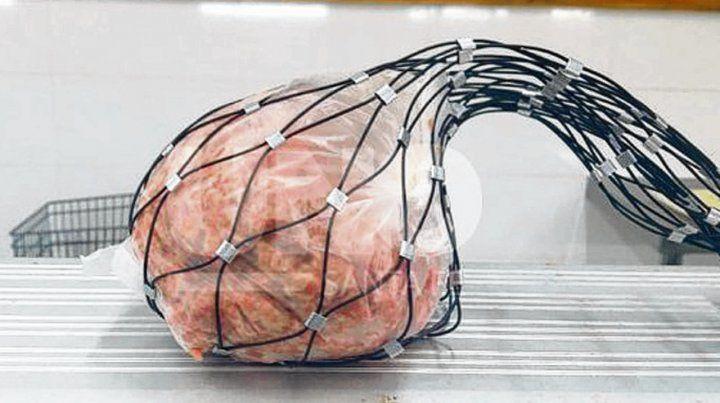 Inviolable. Hasta la carne se envasa en una bolsa de seguridad.