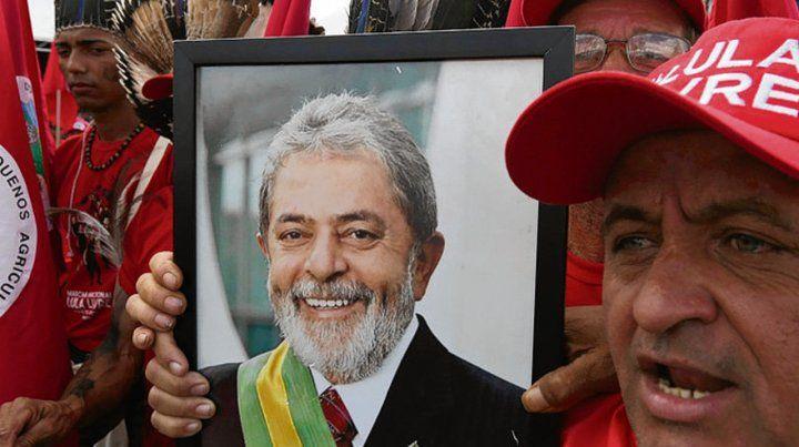 Carisma popular. Partidarios de Lula se movilizan a favor de su líder