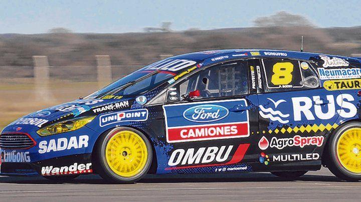Pedro Boero en su Focus.