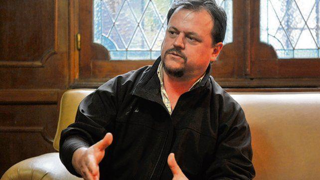 Sergio Aladio. El secretario general de Camioneros de Santa Fe.