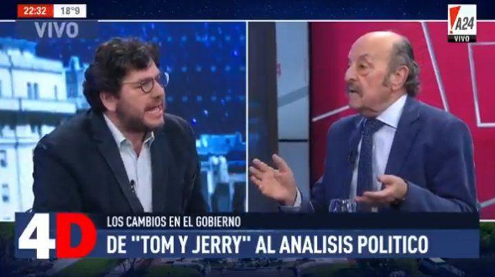 Avelluto y Julio Bárbaro se cruzaron por culpa de Tom y Jerry