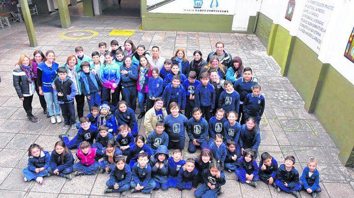 Una escuela donde se trabaja siempre con alegría