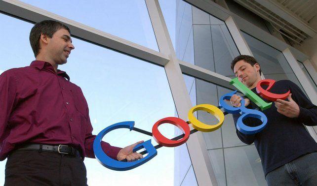 Genios. Larry Page y Sergey Brin en 2004