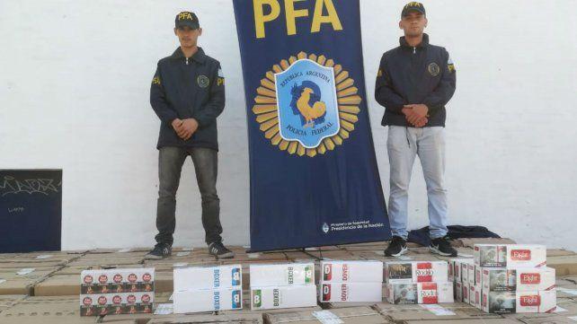 Decomisaron una carga de cigarrillos de contrabando valuada en 13 millones de pesos