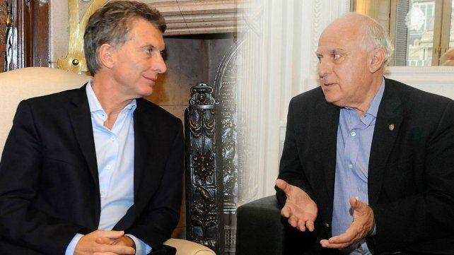 Lifschitz y Macri de mediados de julio pasado. El gobernador, muy crítico de las medidas de Nación.