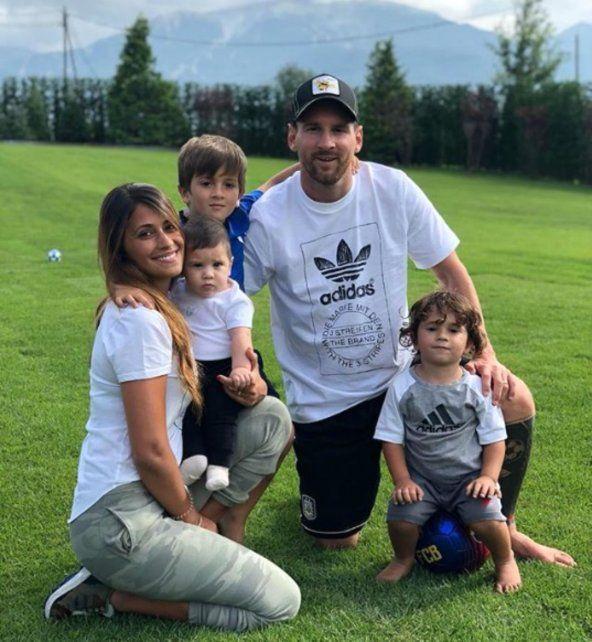 La foto familiar de Messi y el detalle que lo vincula con la selección nacional