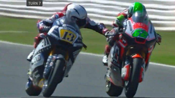 Un motociclista puso en riesgo la vida de un competidor con una maniobra desleal