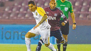 Intruso. Herrera jugó el primer partido de titular recién ante Talleres, por Copa Argentina. En los otros cinco ingresó desde el banco.