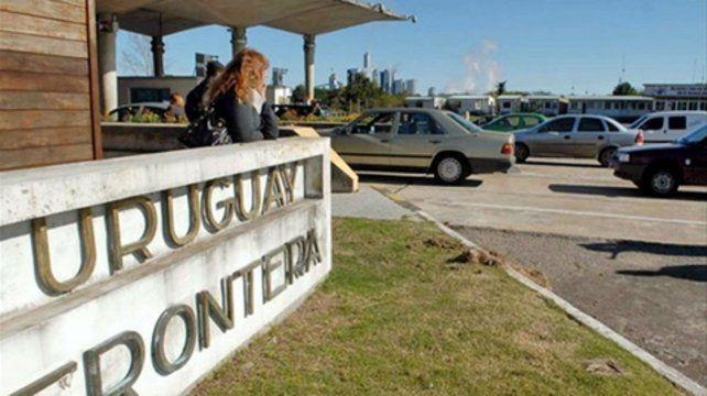 frontera. El control aduanero uruguayo fiscaliza ahora que la mercadería no supere los cinco kilos.