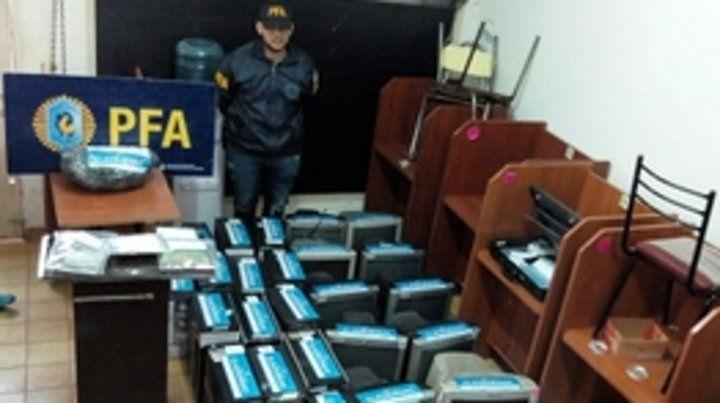 incautadas. Entre el material secuestrado había unas 150 computadoras.