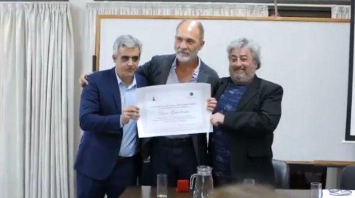 Darío Grandinetti fue declarado Profesor Distinguido de la Facultad.