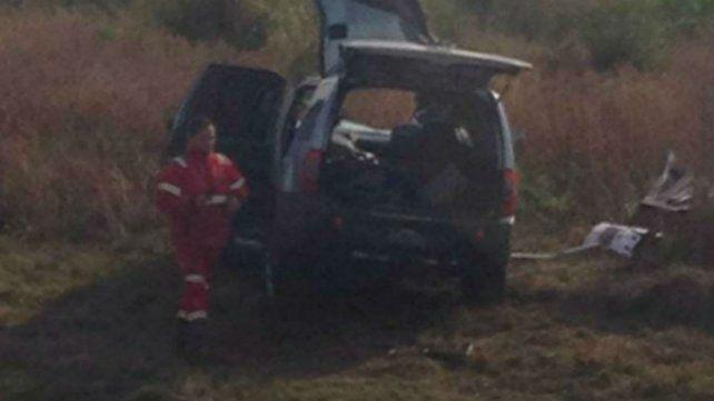 El vehículo donde iba la víctima.
