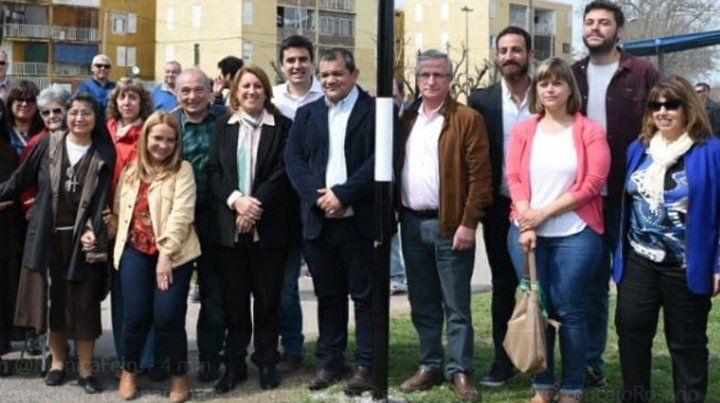 La intendenta estuvo hoy con algunos concejales en la inauguración de la calle Graciela Lo Tufo