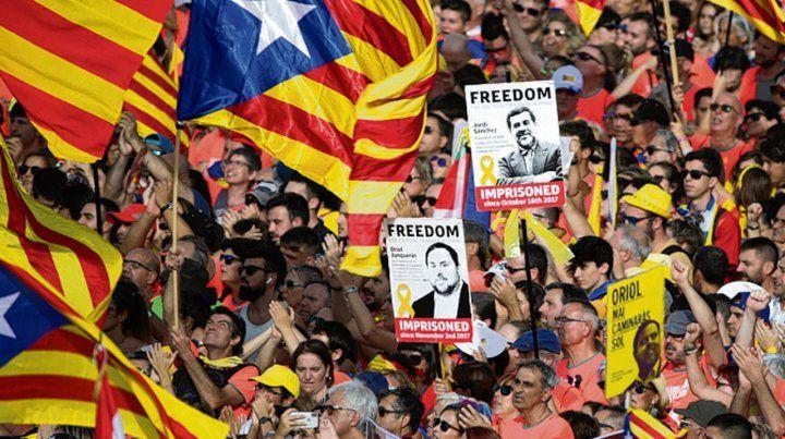 Soberanistas. Los catalanes hicieron su demostración de fuerza.
