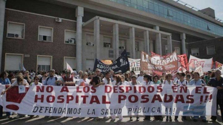 Nuevos despidos en el Hospital Posadas: hoy recibieron 40 telegramas