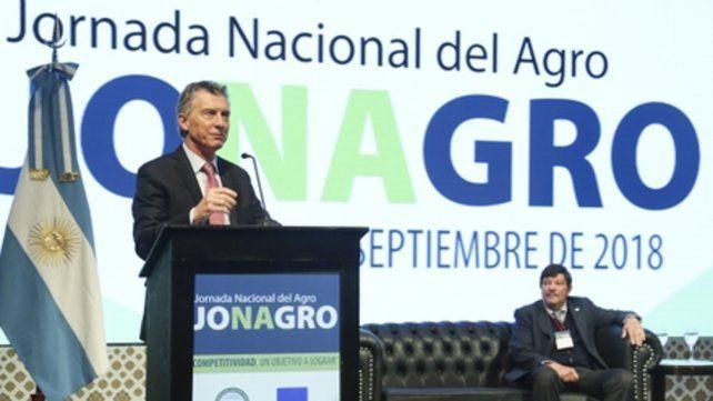Presidente. Macri definió a las retenciones al agro como una emergencia temporal.