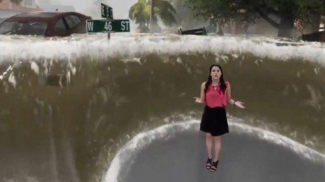 Espectacular animación con posibles efectos del huracán Florence