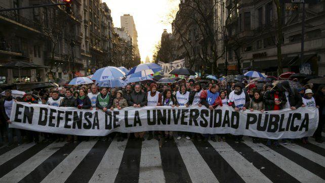 La última marcha en defensa de la educación pública fue multitudinaria.