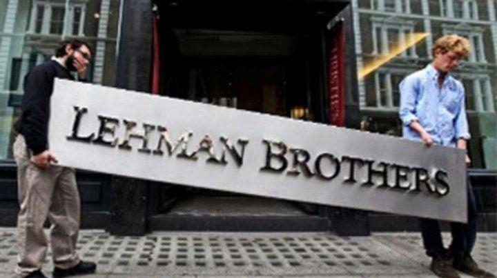 El derrumbe de la casa de inversión Lehman Brothers fue un hito en el proceso de la crisis mundial de 2008.