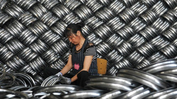 Mudanza. Una de las empresas de la ciudad china de Zheijiang que se traslada.