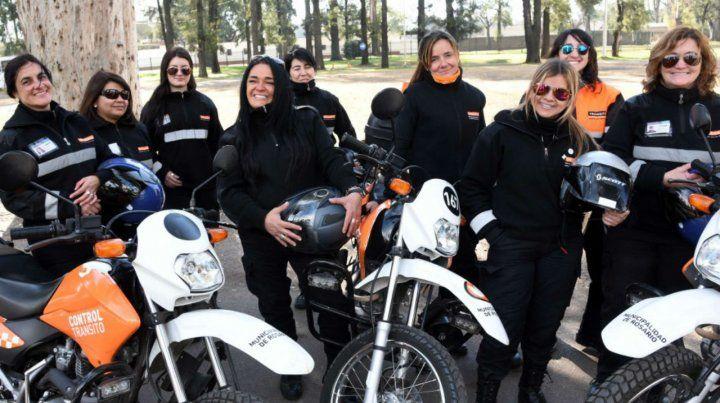 Inspectoras. En la Dirección de Tránsito hay un alto número de mujeres.