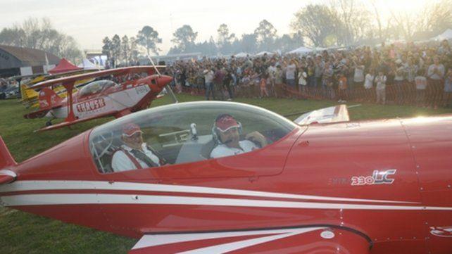 Despertaron aplausos. Los aviones de acrobacia fueron los más destacados de las jornadas.