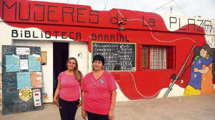 Luchadoras. Elda Pedraza (derecha)