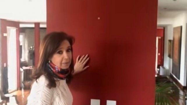 Cristina cuestionó los allanamientos realizados en su casa de El Calafate