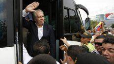Polémico. El viernes, Almagro visitó la zona de frontera de Colombia con Venezuela, donde hay miles de refugiados.