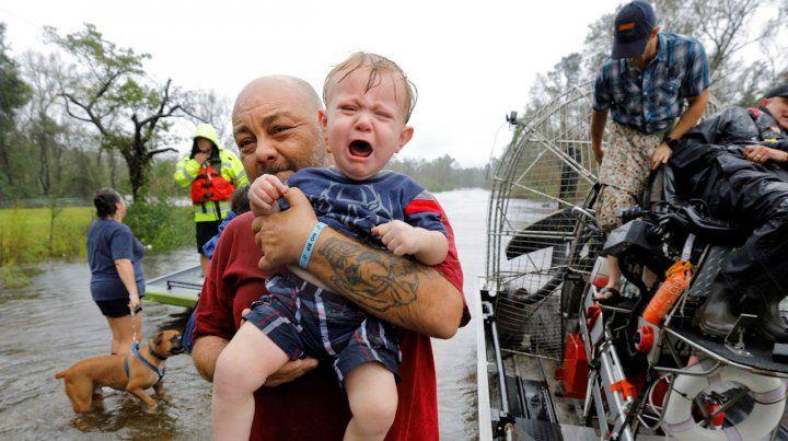 Imágenes del devastador paso del huracán Florence por Carolina del Norte