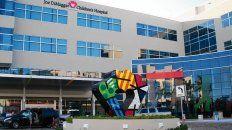 El Joe DiMaggio Chldrens Hospital de Hollywood donde murió el  nene que había viajado a Miami con sus padres, desde Buenos Aires.