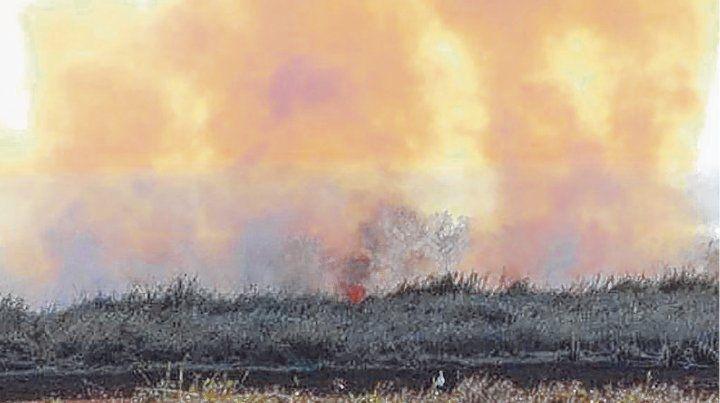 A diario. Los focos de incendio pueden observarse desde distintos puntos de la ciudad.