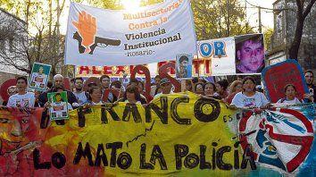 Movilizados. La desaparición y muerte de Franco, en 2014, originó múltiples reclamos y movilizaciones.
