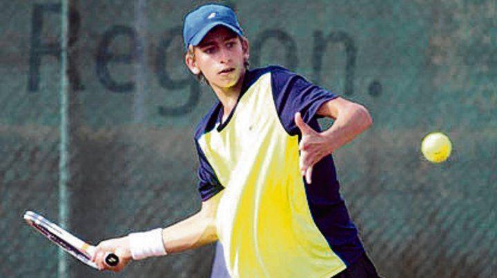 Una promesa. El tenista rosarino Matías Juri.