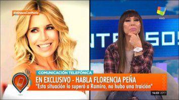 Florencia Peña habló de los controvertidos audios de su pareja, Ramiro Ponce de León.