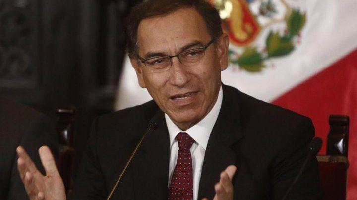El Parlamento peruano aprobó una solicitud del gobierno del  presidente Martín Vizcarra.