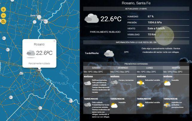 Se esperan tormentas fuertes para Rosario y el sur santafesino