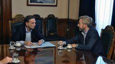 El jefe de la bancada del PJ recibió en su despacho del Senado al ministro Frigerio.