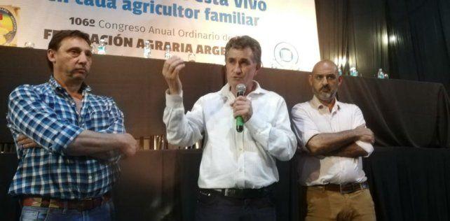 Cambio. El nuevo presidente de Federación Agraria