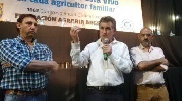 Cambio. El nuevo presidente de Federación Agraria, Carlos Achetoni, hizo declaraciones a la prensa.