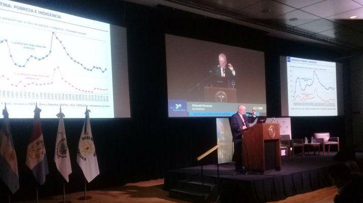 Crisis. El economista Orlando Ferreres describió un duro panorama económico.
