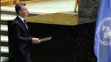 El presidente, en la asamblea anual de la ONU.