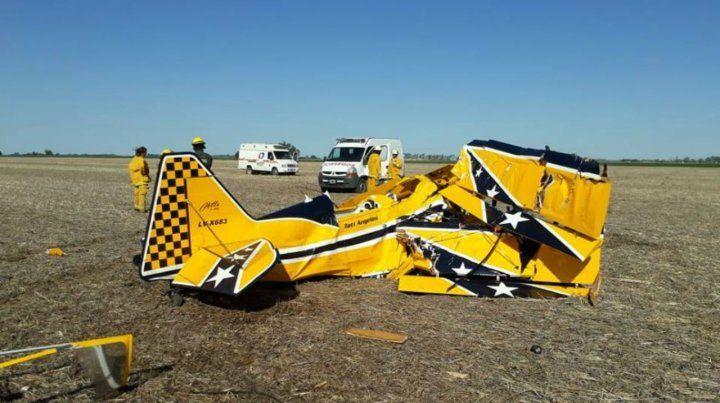 Así quedó la avioneta que pilotaba el conductor de TC.