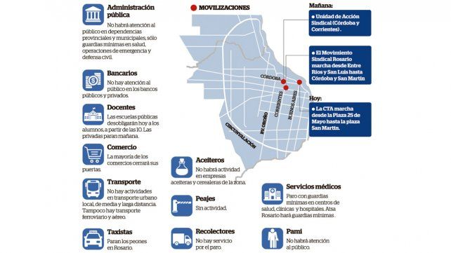 La CGT va mañana por el cuarto paro en la era Macri, con adhesión de las CTA
