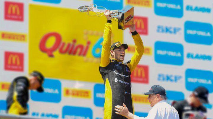 Felicidad. Ardusso celebra un triunfo que lo acerca al líder del campeonato.
