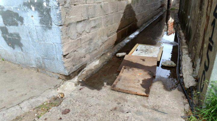Los dos chicos cayeron en el pasillo que sale por calle Cerrito.