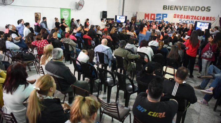 Lanzan un movimiento de organizaciones sociales para resistir el modelo