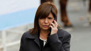 Bullrich: La decisión es que no haya cortes durante el paro